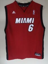 Vintage Adidas LeBron James # 6 Miami Heat Basketball Jersey Size Youth Xl Red