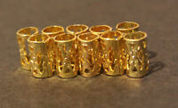 30 Micro Gold Dreadlock Dread Cuffs Hair Clips 4mm (5/32) + FREE Dread Ring