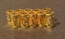 30 Micro Gold Dreadlock Dread Cuffs Hair Clips 4mm (5/32) + FREE Dread Ring