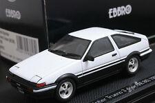 Ebbro 43818 1:43 Toyota Sprinter Trueno AE86 1983 Die Cast Model Sport Car White