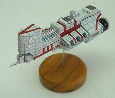 KDY Trireme Corvette Star Wars Spacecraft Mahogany Kiln Dry Wood Model Large New