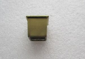 SINGLE VINTAGE SOLID BRASS SQUARE FURNITURE CUP CASTER TOE FEET CAP SHOE