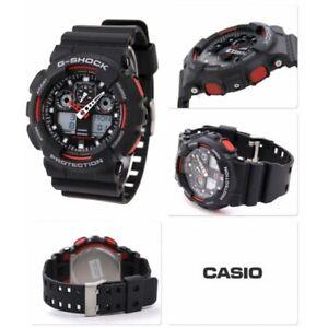 Casio G-Shock Men'S Watch GA-100-1A4ER Black Resine Robust Protection Sport