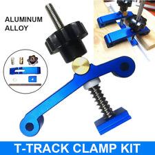 Aleación de Aluminio Mantenga pulsado ABRAZADERA de acción rápida T-SLOT T-track Abrazadera conjuntos de madera
