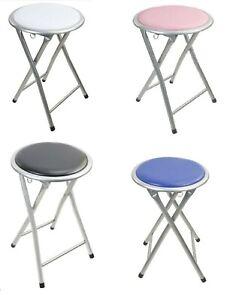 Folding Kids Chair Stool PVC Padded Seat Light Weight Kitchen Dinning 45 CM