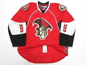 BINGHAMTON SENATORS AUTHENTIC AHL RED REEBOK EDGE 2.0 7287 HOCKEY JERSEY SIZE 56