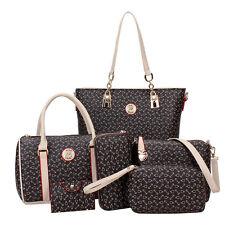 Womens Designer Handbag Set PU Leather Shoulder Messenger Tote Purse Lady Bag