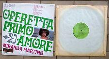 MIRANDA MARTINO DISCO LP 33 GIRI OPERETTA PRIMO AMORE RCA TCL1 1037