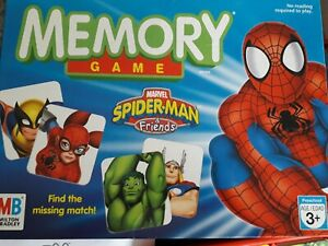 Marvel Spiderman And Friends Memory Game.