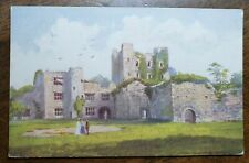 1928 Ludlow Castle Tuck's Postcard to Post Office, Holmer