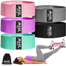 MhIL 5 Resistance Bands Set - Best Exercise Bands, Booty Bands for Women and Men