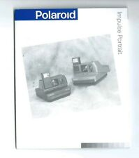 Polaroid impulse portrait manuale d'istruzioni in inglese vintage made in U.S.A.