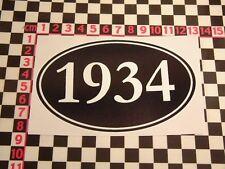 Autocollant année 1934-STUDEBAKER DUESENBERG Cadillac Pontiac Buick anniversaire