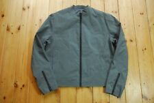 Men's PVC Grey Zip Up Rubber Feel Harrington Jacket by DKNY Jeans M