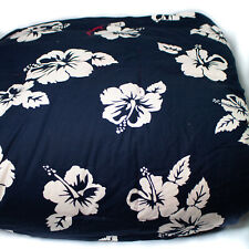 Vtg Tommy Hilfiger Reversible Twin Down Comforter Hibiscus Floral Navy and Red