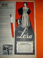 Lingerie LORA Bourgoin Isère, Affiche Réclame Publicité années 50 vintage OLD