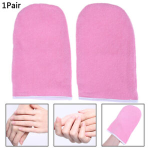 1 Pair Wax Warmer Protection Paraffin Hand Gloves Heater SPA Cotton Mitt L4