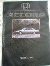 Honda ACCORD SEDÁN FOLLETO de mayo de 1986
