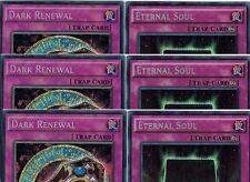 6-cards set: 3x Dark Renewal* YGLD_3x Eternal Soul* Secret 1st LDK2-Ens06 YUGIOH