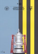FA CUP FINAL 2019 PROGRAMME MANCHESTER CITY V WATFORD