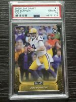 2020 Leaf Gold PSA 10 Joe Burrow LSU Bengals Gem Mint