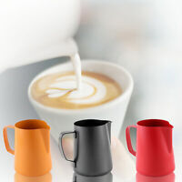 400ml Stainless Steel Milk Frothing Jug Frother Coffee Latte Pitcher Barista GIL