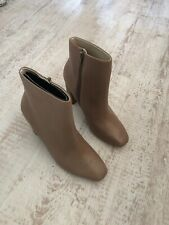 Zara Leather Boots - Size 4