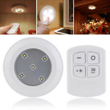 5LED Wireless Kitchen Counter Under Cabinet Closets Lighting Puck White Light #D
