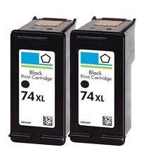 2 Pack #74XL Black Ink for HP Deskjet D4260 D4263 D4268 D4280 D4360 D4363 D4368