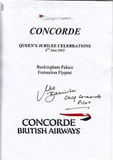 MIKE BANNISTER HAND SIGNED CONCORDE QUEENSJUBILEE BUCKINGHAM PLACE FLYPAST PLANS