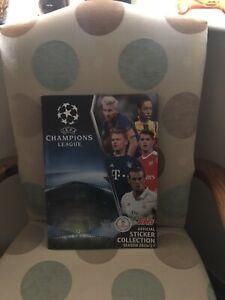 Topps UEFA Champions League 2016/17 Football Sticker Album Complete VGC