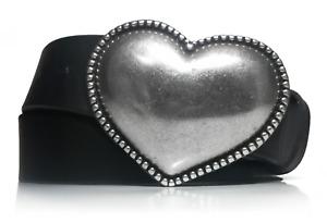Cinturón de mujer - Piel legítima - Cuero - 4cm - Hebilla corazón - Jeans - 40mm