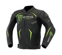 Monster Energy Motorcycle ,Motorbike leather Super Jacket With Armor