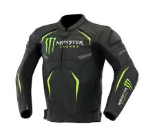 MONSTER ENERGY Moto, Moto in Pelle Super Giacca con armatura