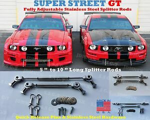 """SPLITTER DIFFUSER Stabilizer RODS 5"""" to 10"""" Universal Stainless Steel USDM"""