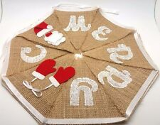 Merry Christmas Bunting Garland Banner Hanging Shop Decoration Flag XMAS Party