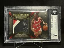 2008-09 Exquisite Coll Michael Jordan scripted swatches PatchAuto BGS 8 SP 11/16