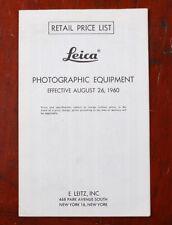 Leitz Leica Studio Equipment Einzelhandel Preis List Ausklappbares, 1960/214966