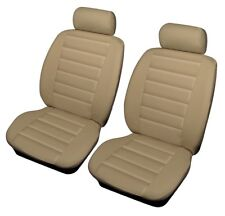Shrewsbury Beige Leather Look Front Car Seat Covers For BMW 1, 3, 4 ,5, 6 Series