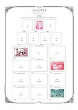 PAGES D'ALBUM - ANDORRE FRANCAIS & ESPAGNOL - ANDORRA -1928-->1959