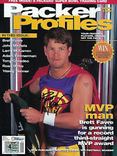 1997 PACKERS Brett Favre signed Packer Profiles magazine SUPERMAN COA HOLO AUTO