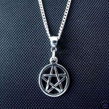 "1 x Tibetan Silver 18"" Pentacle Pentagram Pendant Necklace Pagan Wiccan"