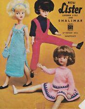 Vintage Knitting Pattern doll baby fashion Lister N1741 Sindy Barbie Teen