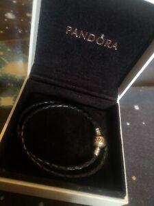 Genuine Pandora Double Leather Bracelet