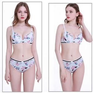 Women Balcony Lace Lingerie Underwear Panties Extreme Padded Push up Bra sets