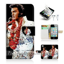 ( For iPhone 4 / 4S ) Wallet Case Cover! Elvis Presley P0133