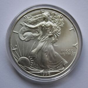 1996 American Silver Eagle BU Uncirculated 1 oz Coin RARE Key Date LOW MINTAGE
