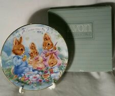 Avon Colorful Moments 1992 Easter Plate, Includes Stand and Box, Made in Japan