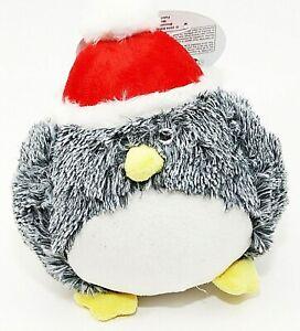 Santa Penguin Dog Toy w/Squeaker Holiday Pets Large Plush Spot Holiday NWT