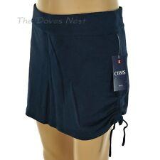 CHAPS by Ralph Lauren PETITE X-LARGE Drawstring Side NAVY SKORT Skirt Over Short